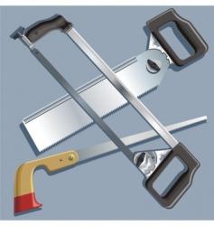 handsaws vector image