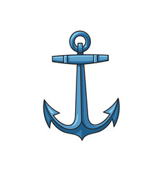metal sailing boat anchor cartoon vector image vector image