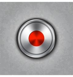 Round metal record knob vector