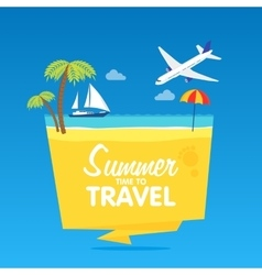 Time to travel summer vacation flat vector image