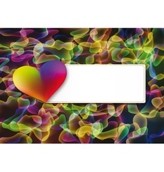 Abstract Valentines day postcard vector image vector image