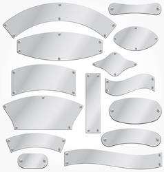 blank metal plates vector image