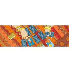 Card Reading Tarot Hand Banner vector image