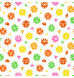 colorful fruit pattern - seamless vector image