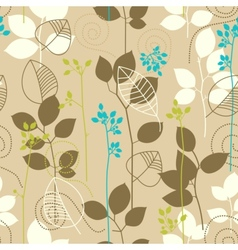 Retro fall leaves seamless pattern vector image vector image
