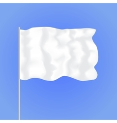 Template Blank White Flag vector image vector image