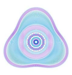 Delta Guilloche Rosette vector image vector image