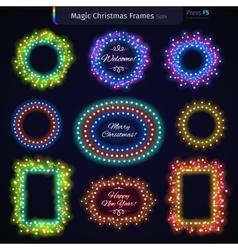 Magic Christmas Frames Set4 vector image