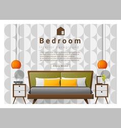 Modern bedroom background Interior design 5 vector image vector image