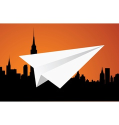 The paper plane vector image vector image