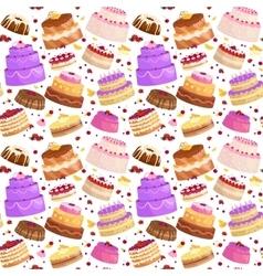 cake icon set Birthday food sweet dessert vector image