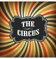 circus background retro vector image vector image