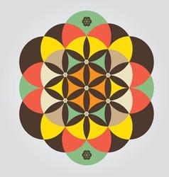 life seed meditative sign vector image vector image