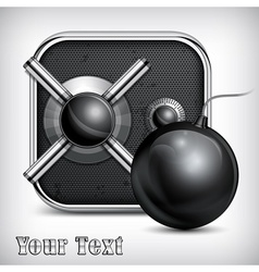 Safe icon bomb vector image