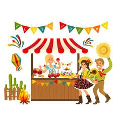 tent festa junina brazilian vector image vector image