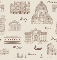 travel europe background italy famous landmark vector image vector image