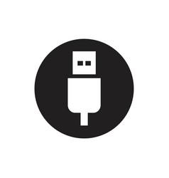 usb icon - vector image