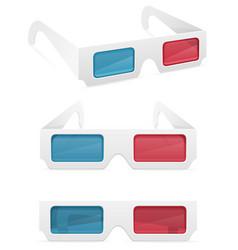 3d paper glasses stock vector image