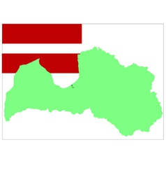 6209 latvian map and flag vector
