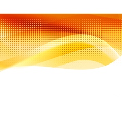 abstract orange halftone background vector image