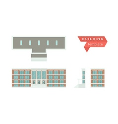 Administrative building - template for creation vector