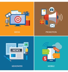 advertising and promotion flat icon design vector image