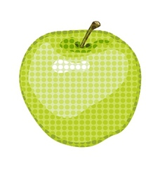 big green apple gone dotty vector image