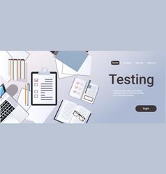 Business planning task checklist customer survey vector