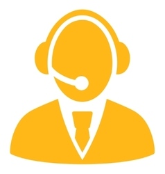 Call Center Worker Icon vector