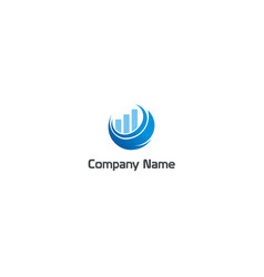 chart business finance grow company logo vector image
