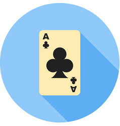 Clubs card vector