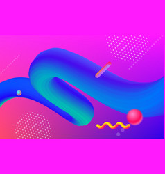 color gradient trendy 3d geometric background vector image