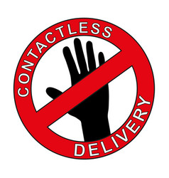 Contactless delivery symbol vector