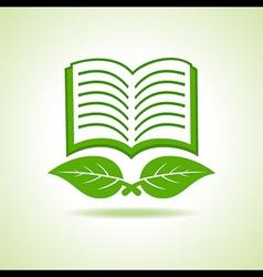 Eco book icon vector