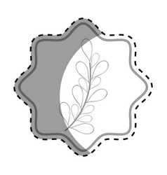 Emblem rustic branches plants decoration vector