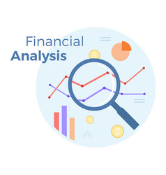 financial business analysis flat vector image