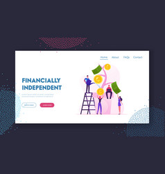 financial profit investment income website landing vector image