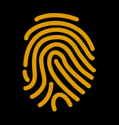 fingerprint scan icon flat vector image