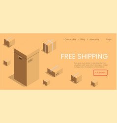 free shipping ordered goods website pages vector image