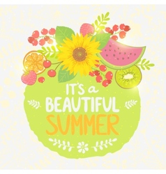Fruit summer label vector