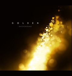 gold background with bokeh vector image