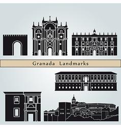 Granada landmarks and monuments vector image
