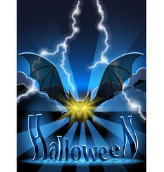 Halloween bat vector image