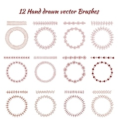 Hand drawn decorative brushes Design vector