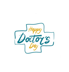Happy doctors day vector
