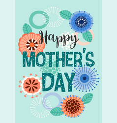 happy mothers day with vector image
