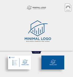 Hexagon business consulting logo template vector
