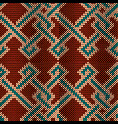 Knitted ornate seamless pattern vector