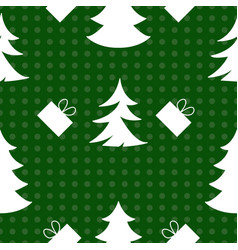 laconic seamless new years pattern on a green vector image