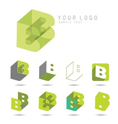 letter B set vector image